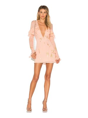 FOR LOVE & LEMONS Gilded Star Mini Dress