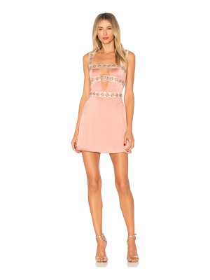 For Love & Lemons Opal Beaded Mini Dress