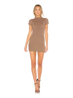 For Love & Lemons Sparkle Knit Metallic Dress