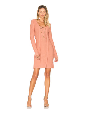FOR LOVE & LEMONS X Knitz Simone Lace Front Sweater Dress