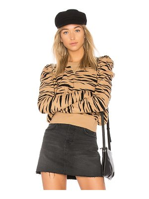 FREE PEOPLE Zaza Zebra Pullover Sweater