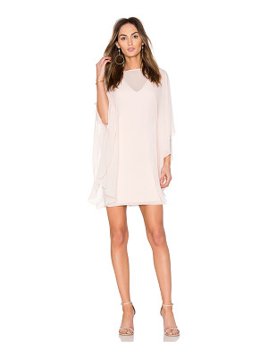 Halston Heritage Fitted Ponte Dress With Sheer Overlay