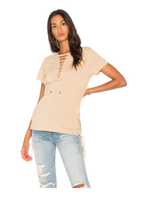 HAUTE HIPPIE Haute Lace Up Tee
