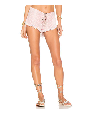 INDAH Vibe Lace Up Short