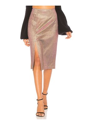 J.O.A. Metallic Pencil Skirt