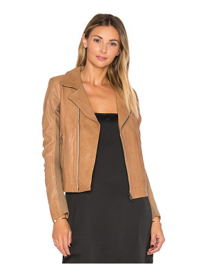 June Fitted Leather Moto