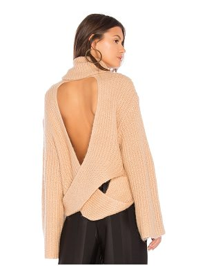 KENDALL + KYLIE Cross Back Turtleneck Sweater