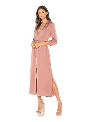 L'Academie The Long Sleeve Shirt Dress