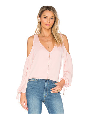 L'ACADEMIE The V-Neck Shoulder Blouse