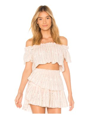 LOVESHACKFANCY Stephanie Crop Top