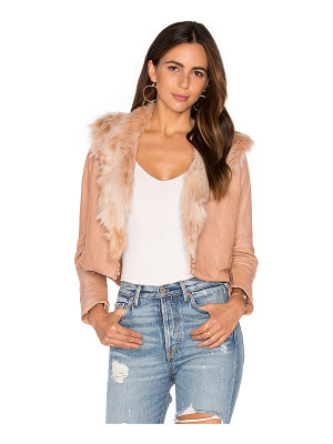 Maria Stanley Harlow Jacket with Faux Fur Collar