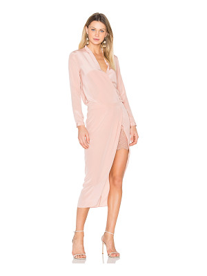 MICHELLE MASON X Revolve Long Sleeve Wrap Dress