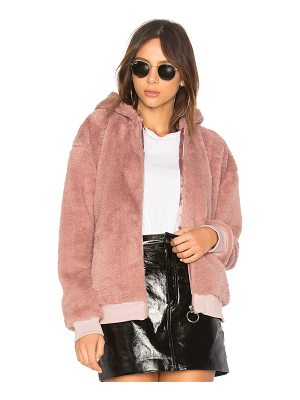 Minkpink Fluffy Faux Fur Hooded Jacket