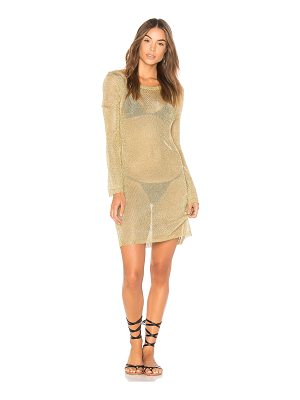 Minkpink Stay Golden Knit Dress