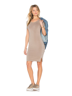 MONROW Fitted Lace Up Dress