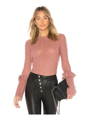 NAADAM Long Sleeve Ruffle Sweater
