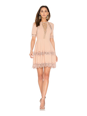 NICHOLAS Crepe Lace Up Back Dress