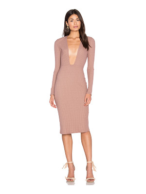 NYTT Long Sleeve Plunge Dress