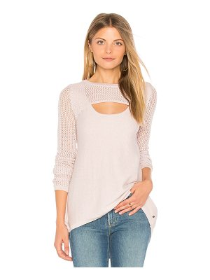 ONE GREY DAY Lena Keyhole Pullover