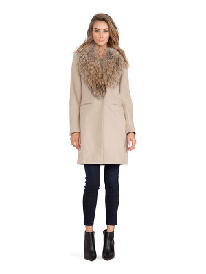 SAM. Crosby Jacket with Asiatic Raccoon Fur Trim