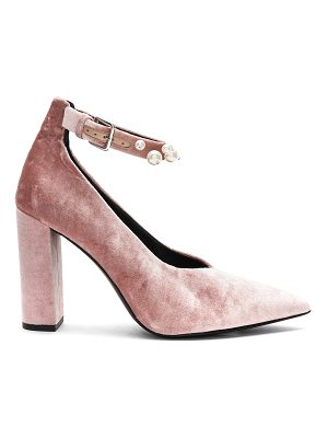 SOL SANA Isla Heel In Dusty Rose Velvet Pearl