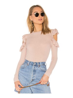 TULAROSA Ruffle Cold Shoulder Sweater