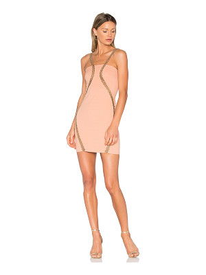 VATANIKA Embellished Stretch Mini Dress