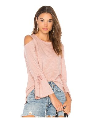 Wilt Cold Shoulder Tie Sleeve Tee