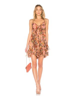 ZIMMERMANN Lovelorn Frill Tie Shoulder Dress