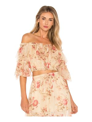 ZIMMERMANN X Revolve Prima Cherry Crop Top