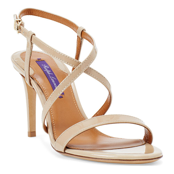 RALPH LAUREN arissa patent leather sandal - With slender straps and a 3-inch stiletto heel, this...