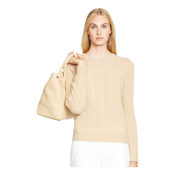 RALPH LAUREN black label cabled cashmere crewneck - Upholding the uncompromising standards for creating Ralph...