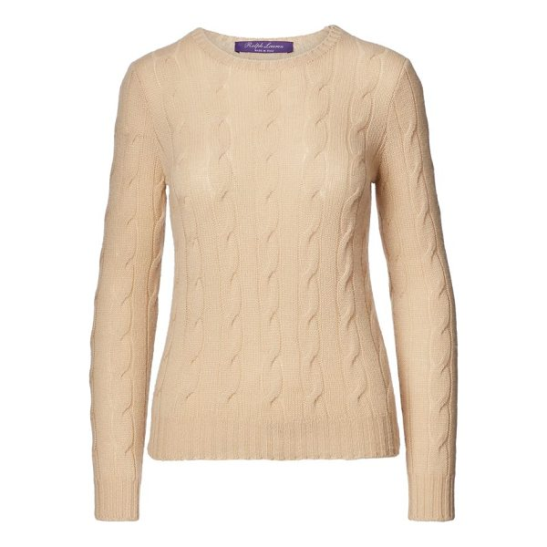 "RALPH LAUREN cable-knit cashmere sweater - Slim fit. Size medium has a 23½"" body length a 35""..."