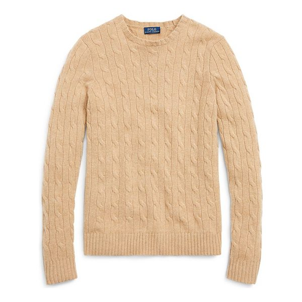"RALPH LAUREN cable-knit cashmere sweater - Slim fit. Size medium has a 23"" body length and a..."