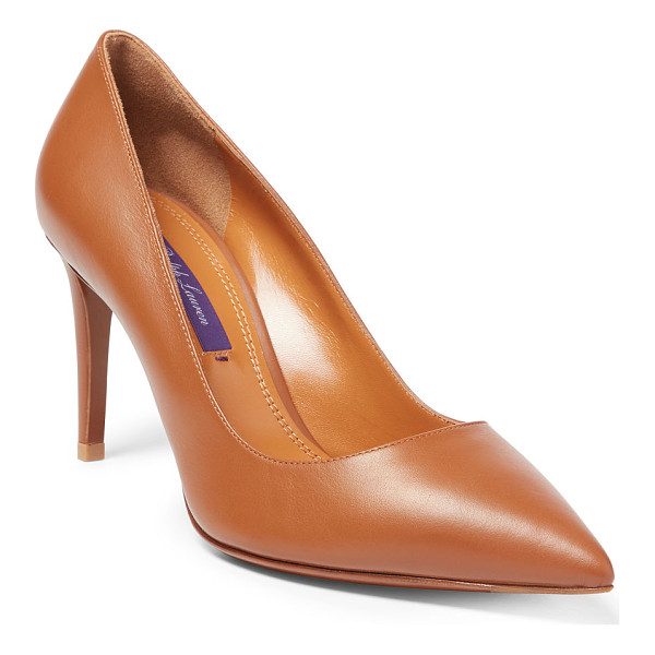 RALPH LAUREN calfskin armissa pump - Made in Italy, our modern Armissa pump is crafted from rich