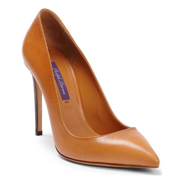 RALPH LAUREN celia vachetta pump - A modern classic, the Celia pump is expertly crafted from...