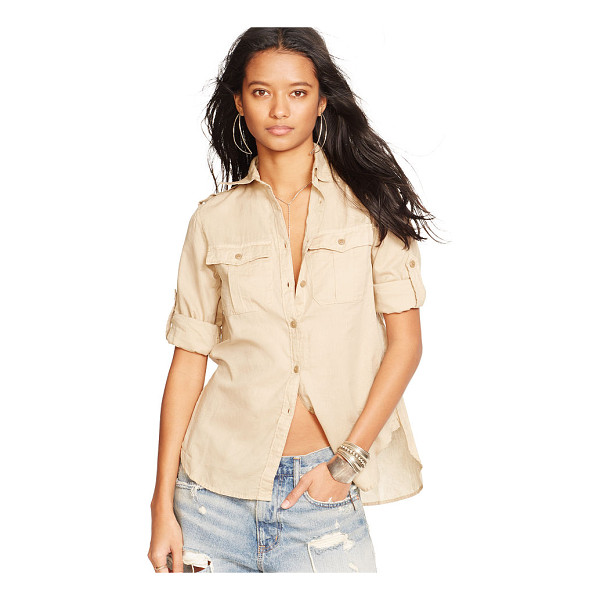 RALPH LAUREN denim & supply cotton expedition shirt - Crafted from soft cotton twill, this classic shirt is...