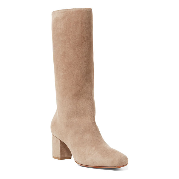 RALPH LAUREN esmerie suede boot - Inspired by the pointe shoes and leg warmers worn by ballet...