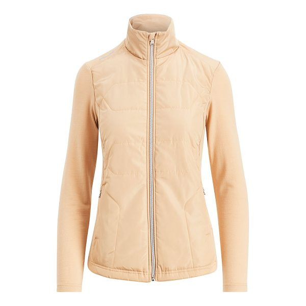 RALPH LAUREN golf water-repellent terry jacket - This jacket's stretch-infused wool terry allows for a full...