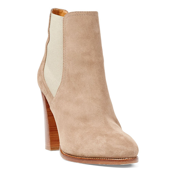 RALPH LAUREN hadria suede bootie - Inspired by the Pre-Fall Collection, this Italian suede...