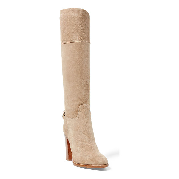 RALPH LAUREN hazel suede boot - Inspired by the Pre-Fall Collection's muted palette and our...