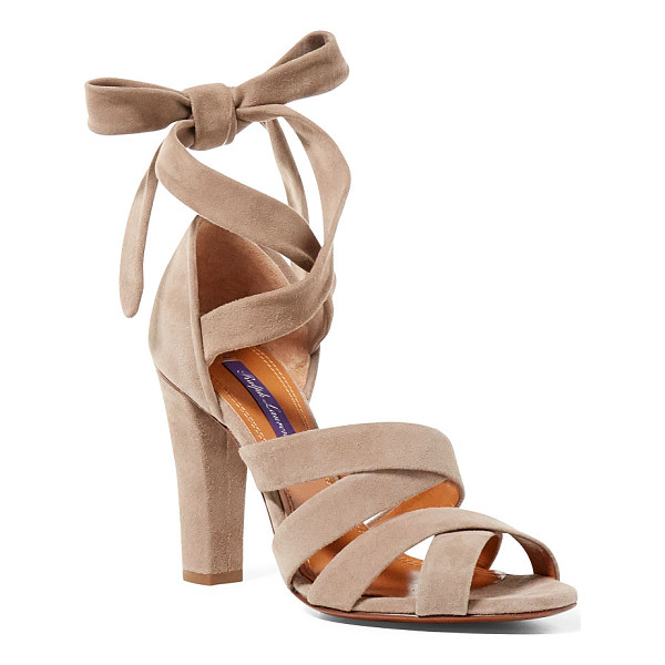 RALPH LAUREN laddie suede sandal - Inspired by classic pointe shoes worn by ballerinas, this...