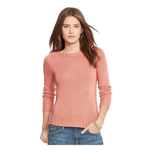 RALPH LAUREN lauren bateau-neck sweater - Contrasting rib-knit side panels enhance the textural...