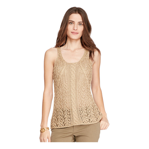RALPH LAUREN lauren cable-knit sleeveless sweater - Alluring open stitching meets a heritage-inspired cable...