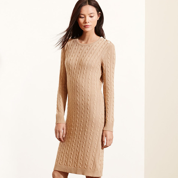 RALPH LAUREN lauren cable-knit sweater dress - Combining the heritage-inspired style of a cable-knit...