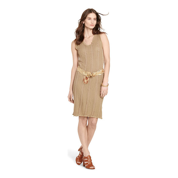 RALPH LAUREN lauren cable sleeveless sweater dress - A textural cable knit meets a streamlined, slim fit in this...