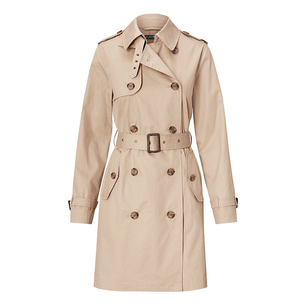 RALPH LAUREN lauren cotton trench coat - With a water-resistant finish, this modern take on the...