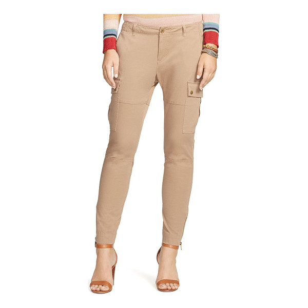 RALPH LAUREN lauren cotton twill skinny cargo pant - A modern take on utilitarian styles, this stretch cotton...