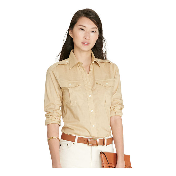 RALPH LAUREN lauren cotton voile workshirt - In airy cotton voile, this slightly sheer workshirt merges...