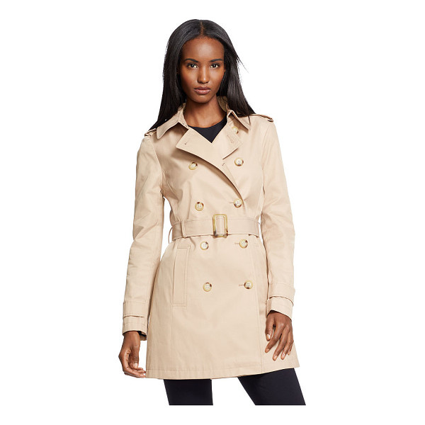 RALPH LAUREN lauren double-breasted trench coat - Distinguished with a double-breasted silhouette, this...